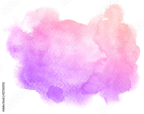 Abstract Purple Watercolor On White Background This Is