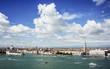 Venedig Dogenpalast Campanile, Canal Grande und Dogana del mar