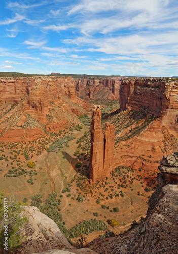 Fotografie, Obraz  Spider Rock at Canyon de Chelly in Arizona vertical