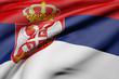 3d rendering of a Republic of Serbia flag