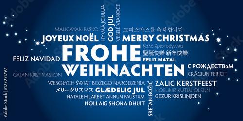 Frohe weihnachten in 27 sprachen