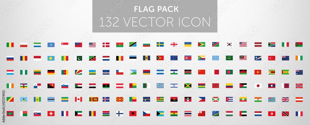 Fototapeta WORLD FLAG vector collection