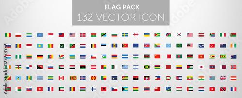 Fototapeta WORLD FLAG vector collection  obraz