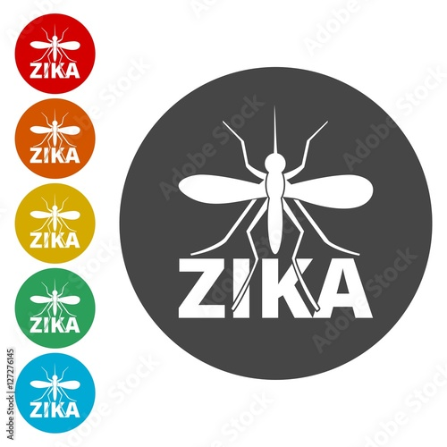 Fotografija  Zika virus icons set
