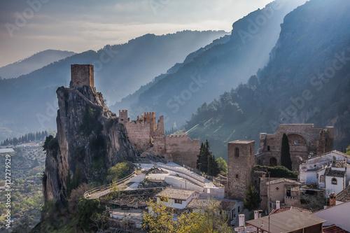 Castle La Iruela located in the Sierra de Cazorla in the region of Andalusia, Spain