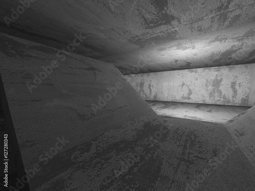 Poster Betonbehang Abstract textured concrete empty room interior background
