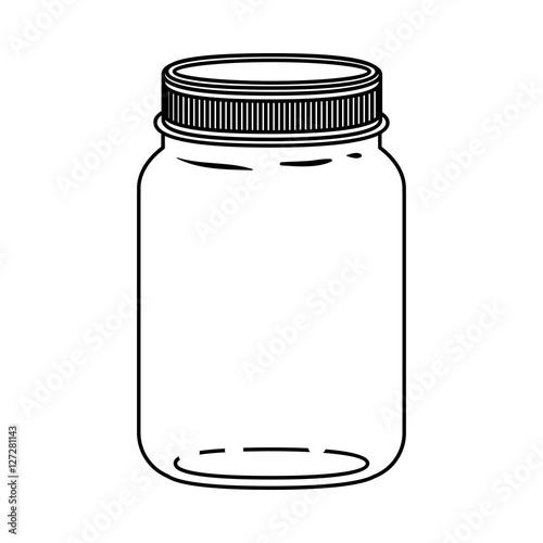 Carta da parati Mason jar icon