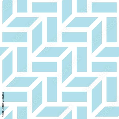 Tapeta ścienna na wymiar Abstrakcyjna geometryczna błękitna grafika