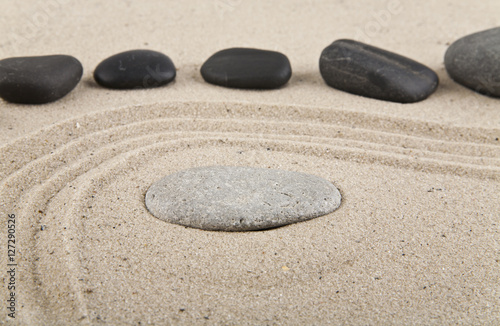 Papiers peints Jardin background with stones and sand for meditation and relaxation to