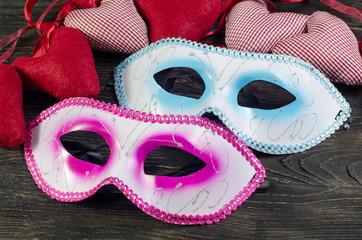 Christmas balls heart Mask