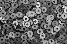 Steel Ring Circle, Metal Shining Washers Background