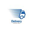 Creative Delivery Truck Concept Logo Design Template