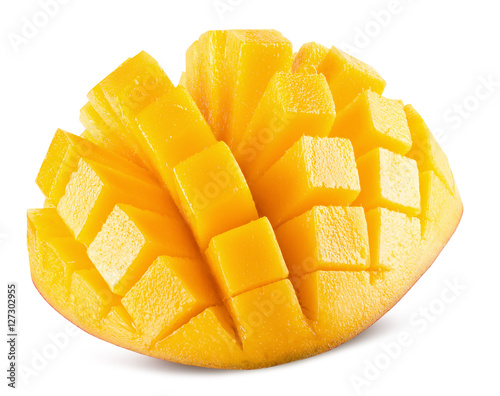 mango slices isolated on the white background