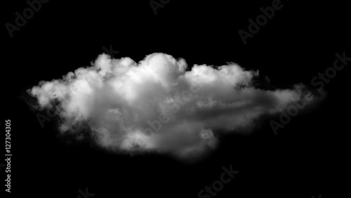 Foto op Plexiglas Hemel white clouds on black background