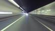 Fast driving for Barcelona. urban tunnels and bypass roads. Time Lapse - vehicle shot - rearview - 4K.