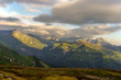 Majestic clouds in the afternoon light. Tatry