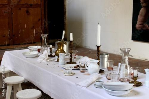 Fotografie, Obraz  la Tavola dopo un Pasto in Compagnia