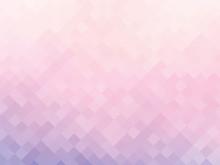 Soft Pink Squares Mosaic Background