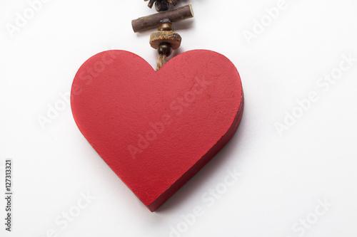 Fotografia, Obraz  Corazón rojo  de Navidad