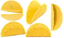 Five Empty Yellow Corn Taco Sh...