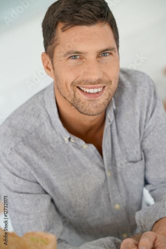 40 Mens Urban Fashion For You: Portrait Of Handsome 40-year-old Man With Arms Crossed