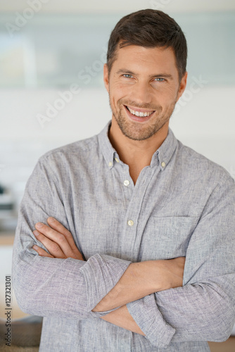 40 Year Old Man With Arms Crossed