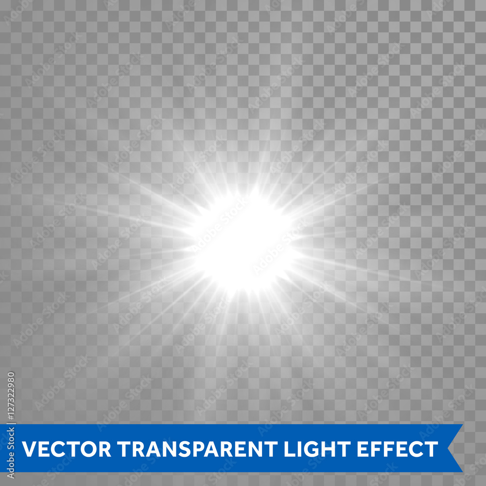 Fototapety, obrazy: Shining and glowing sun light effect. Star explosion outburst