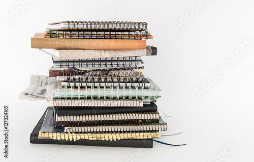 Fotografie, Obraz Pile of Writing Journals