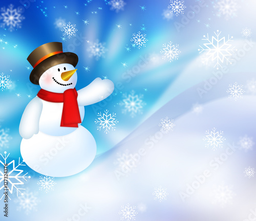 Christmas Snowman Background Buy This Stock Illustration