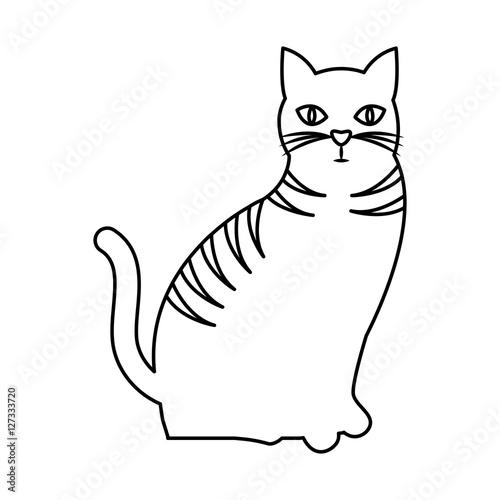 Printed kitchen splashbacks Cats cute cat mascot isolated icon vector illustration design