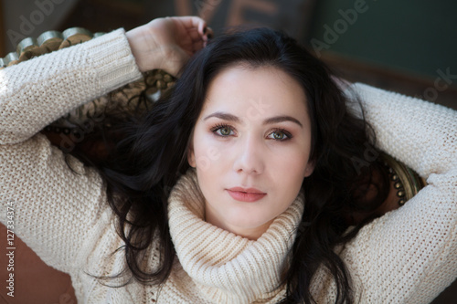 Valokuva  Portrait of Beautiful Young Woman Smiling