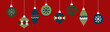 canvas print picture - Christmas Ornaments Banner