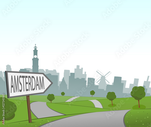 Road to Amsterdam Wallpaper Mural