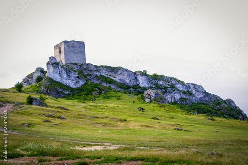 Fotobehang Rudnes ruiny zamku w Olsztynie