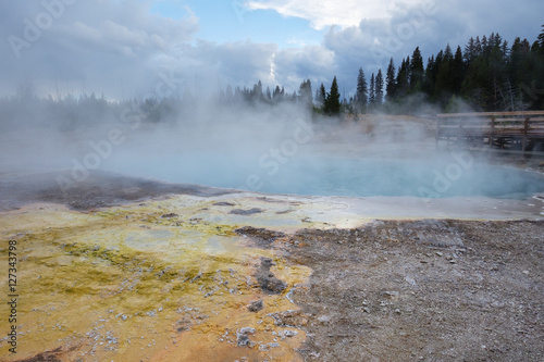 Keuken foto achterwand Natuur Park Yellowstone National Park, West Thumb Geyser Basin
