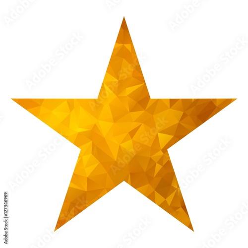 Fotografering  gold triangle star white