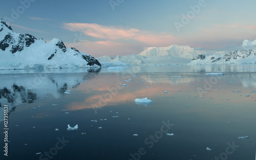 Poster Glaciers Sunset & alpenglow