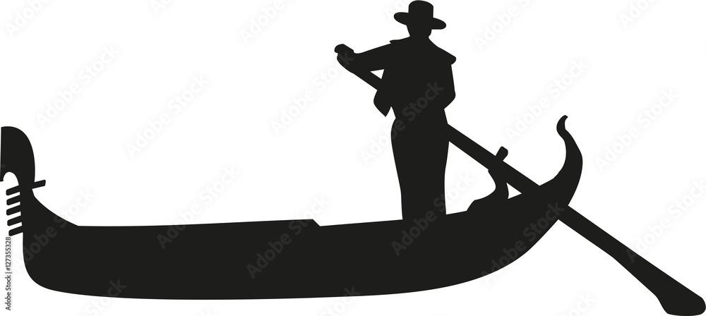 Fototapety, obrazy: Gondola with gondolier in venice