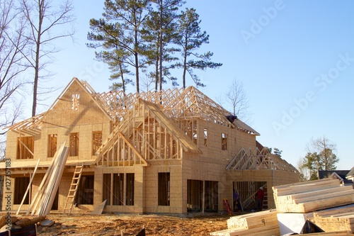 Obraz House under construction - fototapety do salonu
