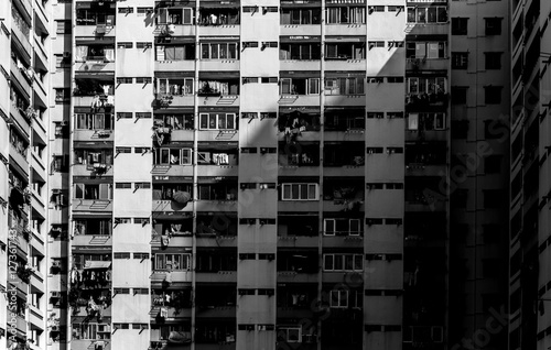 Fototapeta Hong kong apartment block