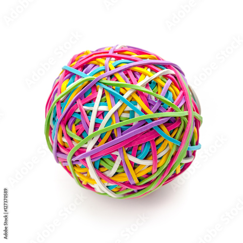 Fotografía  Rubber band ball