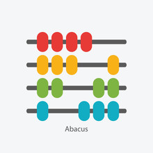Abacus Sign Symbol Icon Vector Illustration