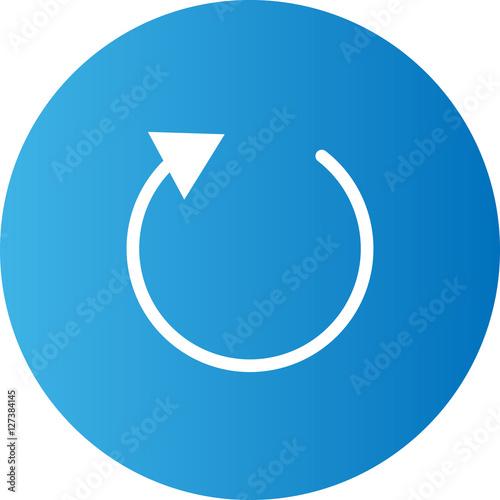 Fotografia refresh icon flat design blue