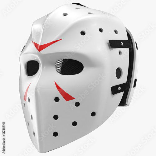 Vintage Hockey Mask On White 3d Illustration Buy This Stock