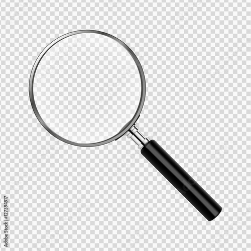 Photo realistic magnifying glass vector