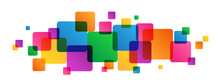 Overlapping Multicoloured Squares Banner
