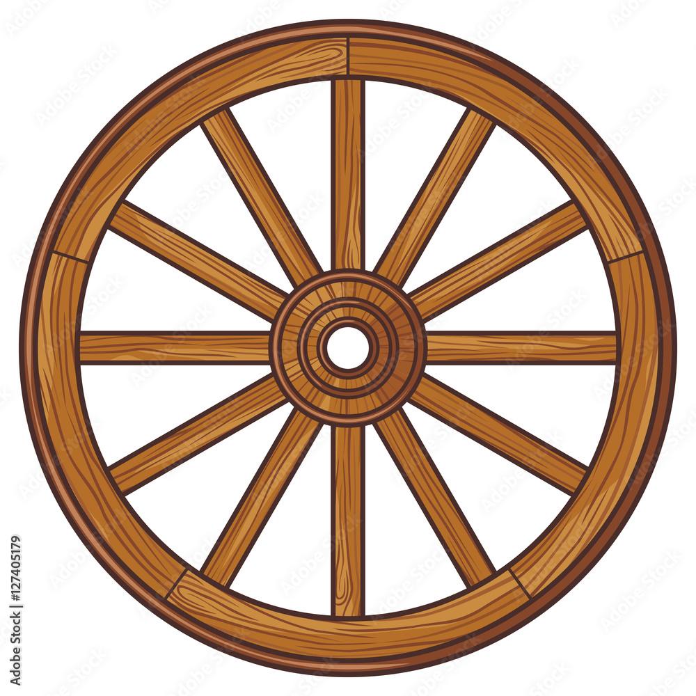 Fototapety, obrazy: old wooden wheel
