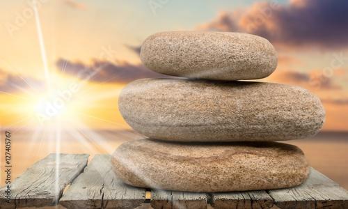Foto op Plexiglas Stenen in het Zand Zen-like.