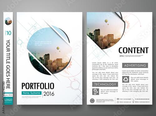 brochure design template vectorabstract circle cover book portfolio minimal presentation postercity design