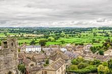 Village Landscape Around Middleham Castle